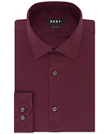 DKNY Men's Slim-Fit Stretch Solid Dress Shirt, Created for Macy's