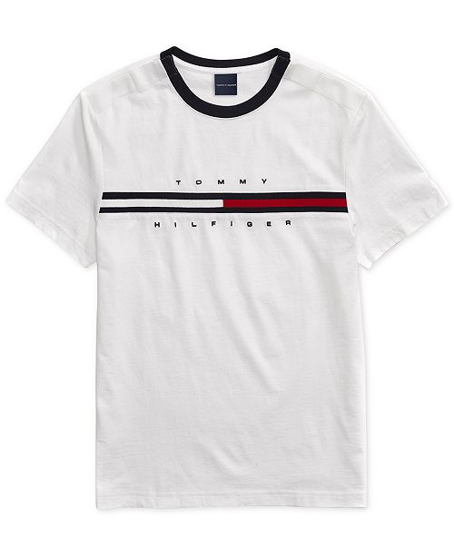 Tommy Hilfiger Men's Tino T-Shirt with Magnetic Closure at Shoulders