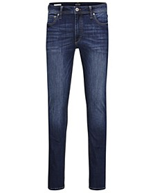 Men's Slim Straight Fit Dark Blue Jeans