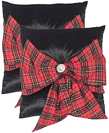 "Tartan Bow 16"" x 16"" Pillow"