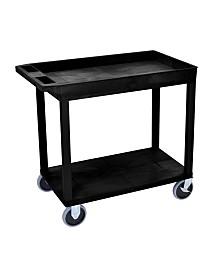 Clickhere2shop Heavy - Duty One Tub - One Flat Shelf Utility Cart