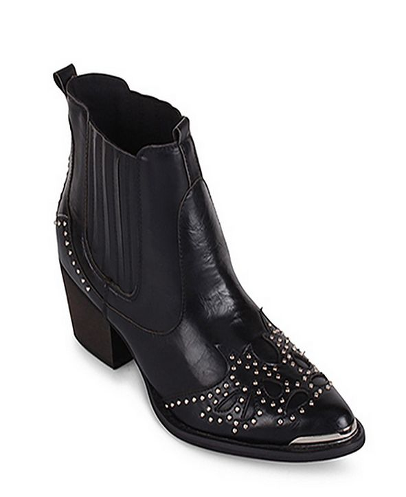 Wanted Lonestar Western Inspired Ankle Bootie