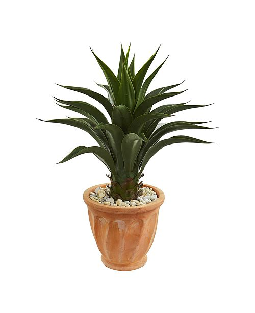 Nearly Natural Agave Artificial Plant in Terra Cotta Planter