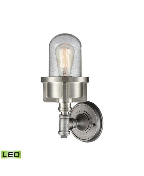 ELK Lighting Briggs 1 Wall Sconce Weathered Zinc/Satin Nickel