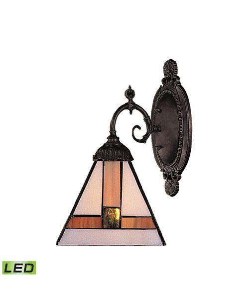 ELK Lighting Mix-N-Match 1-Light Sconce in Tiffany Bronze - LED Offering Up To 800 Lumens (60 Watt Equivalent)