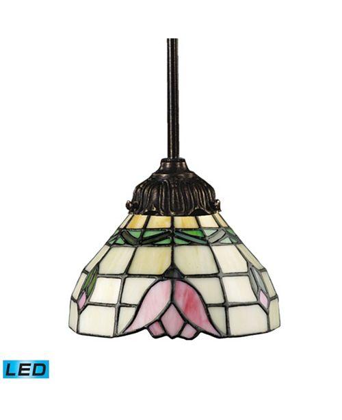 ELK Lighting Mix-N-Match 1-Light Pendant in Tiffany Bronze - LED Offering Up To 800 Lumens (60 Watt Equivalent)