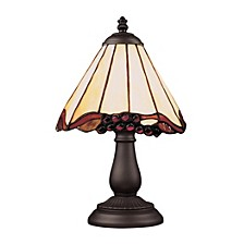 Mix-N-Match 1-Light Table Lamp in Tiffany Bronze