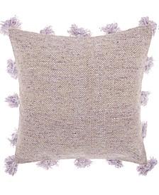 Mina Victory Life Styles Tassel Border Decorative Pillow