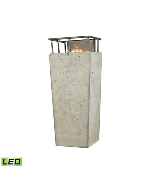 ELK Lighting Brocca 1 Light Wall Sconce in Silverdust Iron with Concrete Shade