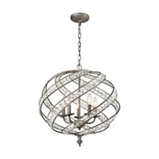 Renaissance 5 Light Chandelier in Weathered Zinc