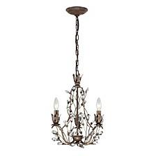 Sagemore Collection 3 light chandelier in Bronze Rust