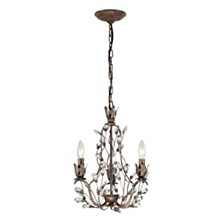 Sagemore Collection 3 light chandelier in Bronze Rust