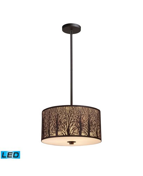 ELK Lighting Woodland Sunrise 3-Light Pendant in Aged Bronze