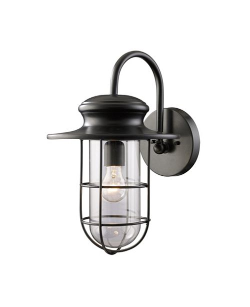 ELK Lighting Portside 1-Light Outdoor WB in Matte Black
