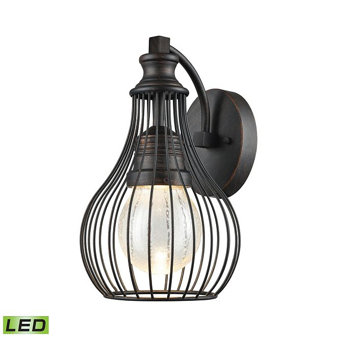 ELK Lighting Osage Outdoor LED Wall Sconce in Weathered Charcoal