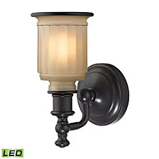 Acadia Collection 1 light bath in Oil Rubbed Bronze - LED Offering Up To 800 Lumens (60 Watt Equivalent)