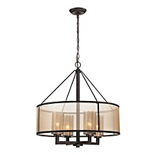 Diffusion Collection 4 light chandelier in Oil Rubbed Bronze