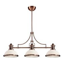 Chadwick 3-Light Billiard in Antique Copper