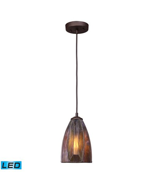 ELK Lighting Dimensions 1-Light Pendant in Burnished Copper - LED Offering Up To 800 Lumens (60 Watt Equivalent)