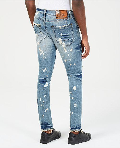 676fee3b283 Heritage America Mens Slim-Fit Distressed Jeans & Reviews - Jeans ...