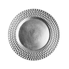 Jay Imports Linear  Set/4 Silver Charger Plate