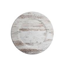 Jay Import Birch Wood Finish Set/4 Chager Plate