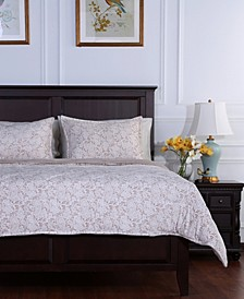 Blanket® Floral Lace Plush Full/Queen Comforter Set