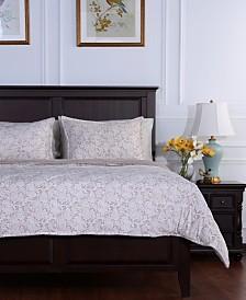 Berkshire Blanket® Floral Lace Plush Full/Queen Comforter Set