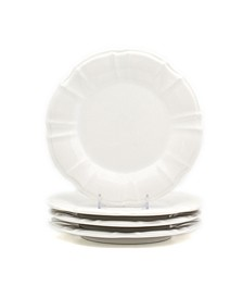Chloe 4 Piece White Salad Plate Set