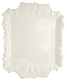 Chloe White Square Platter with Handles