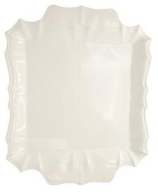 Euro Ceramica Chloe White Square Platter with Handles