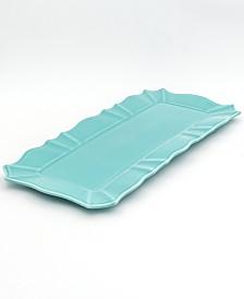 Euro Ceramica Chloe Turquoise Rectangular Tray