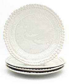 EuroCeramica Sarar 4 Piece White Dinner Plate Set