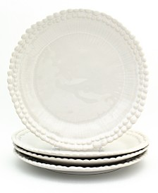 EuroCeramica Sarar 4 Piece White Dinner Plate Set