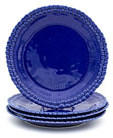 Euro Ceramica Sarar 4 Piece Cobalt Dinner Plate Set
