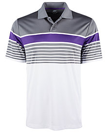 Attack Life by Greg Norman Men's Jalen Regular-Fit Performance Stretch PlayDry Moisture-Wicking Stripe Polo
