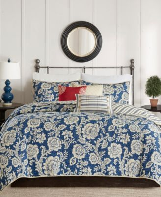 Lucy 6-Pc. Full/Queen Cotton Twill Reversible Coverlet Set