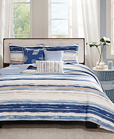 Madison Park Marina 6-Pc. Full/Queen Coverlet Set