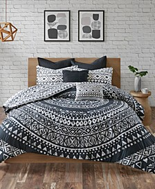 Larisa Cotton 7-Pc. King/California King Duvet Cover Set