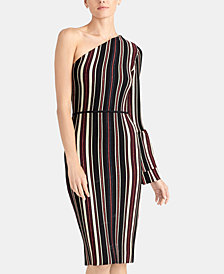 RACHEL Rachel Roy One-Shoulder Striped Dress, Created for Macy's
