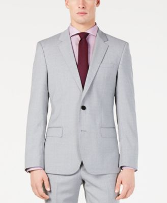 bf91264df Hugo Boss Men's Modern-Fit Light Gray Sharkskin Suit Separates ...