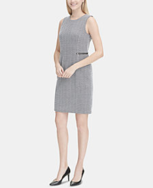 Calvin Klein Zipper-Detail Sheath Dress