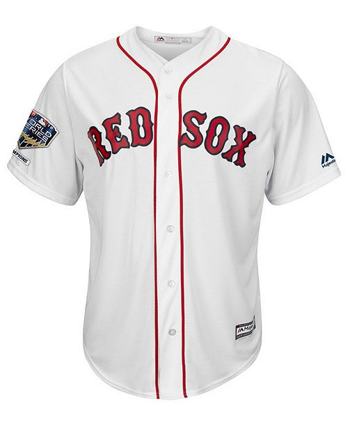 Majestic Men s Mookie Betts Boston Red Sox 2018 World Series Champ Patch  Player Cool Base Jersey ... e0c298327