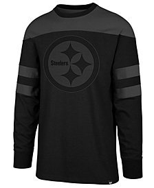 '47 Brand Men's Pittsburgh Steelers Gunner Crew Long Sleeve T-Shirt