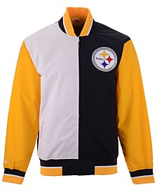 Mitchell & Ness Men's Pittsburgh Steelers Team History Warm Up Jacket 2