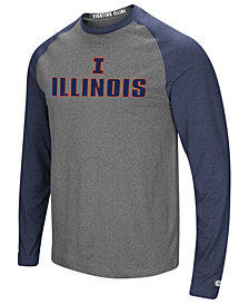 Colosseum Men's Illinois Fighting Illini Social Skills Long Sleeve Raglan Top
