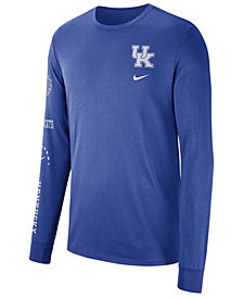 Nike Men's Kentucky Wildcats Long Sleeve Basketball T-Shirt