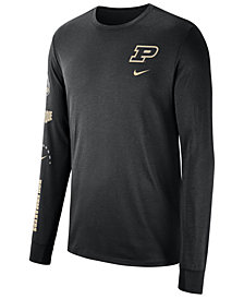 Nike Men's Purdue Boilermakers Long Sleeve Basketball T-Shirt