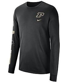 Nike Men's Purdue Boilermakers Long Sleeve Basketball T-Shirt