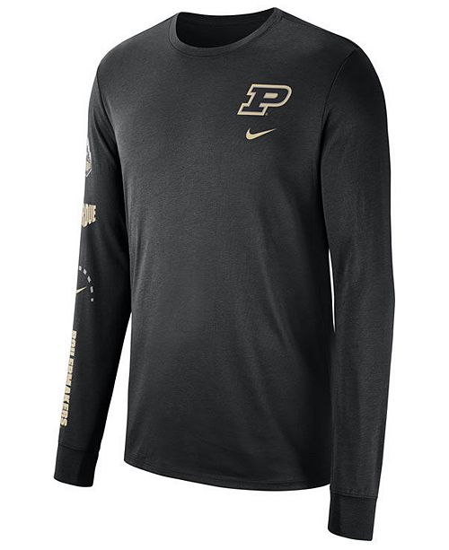 sports shoes f1bb4 a107f Men's Purdue Boilermakers Long Sleeve Basketball T-Shirt
